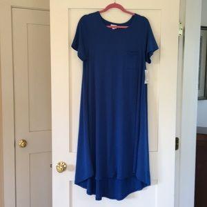 NEW Lularoe Medium coving blue Carly